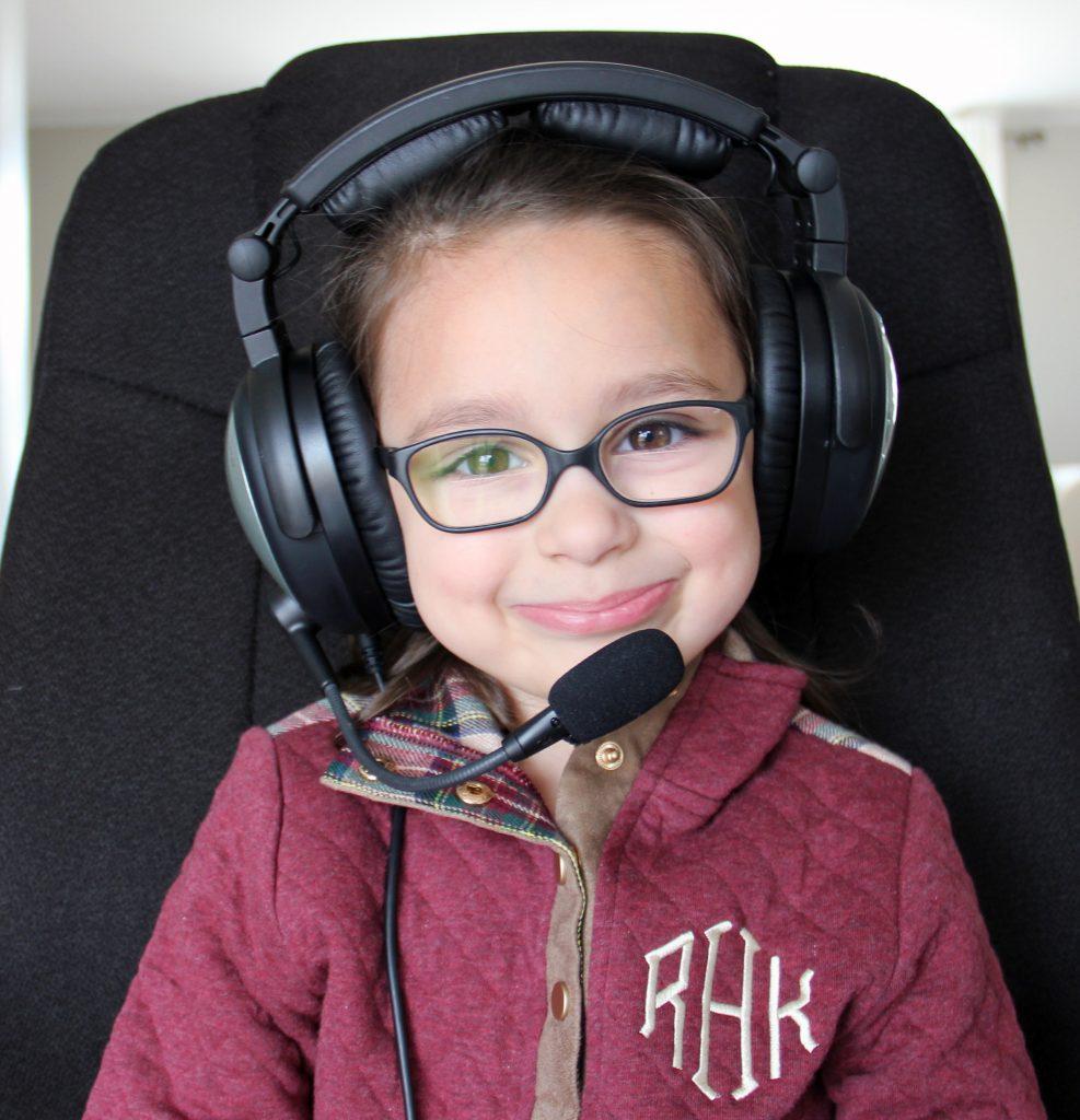 kid wearing lightspeed sierra headset